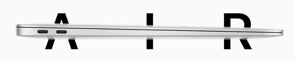 apple macbook air review of the input ports