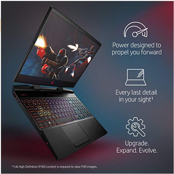 Details of the HP Omen 15 gaming laptop