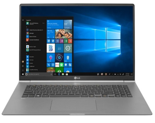 LG Gram 17, laptop with best battery life