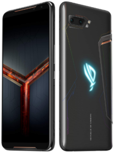 Top rated smartphones, Asus ROG Phone 2, side front and back