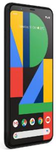 Top rated smartphones, side view Google Pixel 4XL,