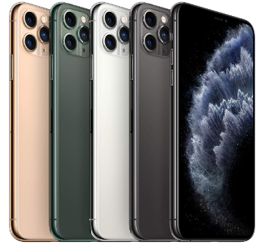 Top rated smartphones, 5 color models, iPhone 11 Pro Max