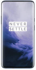 Top rated smartphones, front view OnePlus 7 Pro