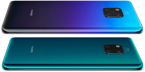 Back view of the Huawei Mate 20 Pro