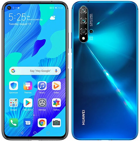 Front and back Huawei Nova 5T. Top-rated for Best Value