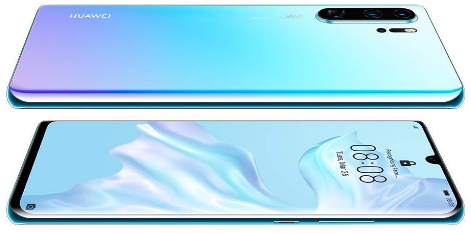 Front and Back View of the Top-rated Smartphone, the Crystal Huawei P30 Pro