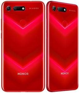 Back View of the Red Honor View 20 (V20)