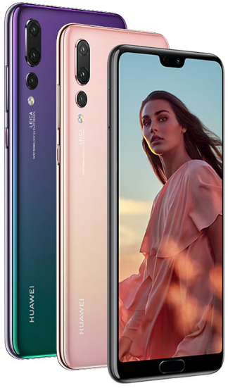 Front and back view of the Huawei P20 Pro