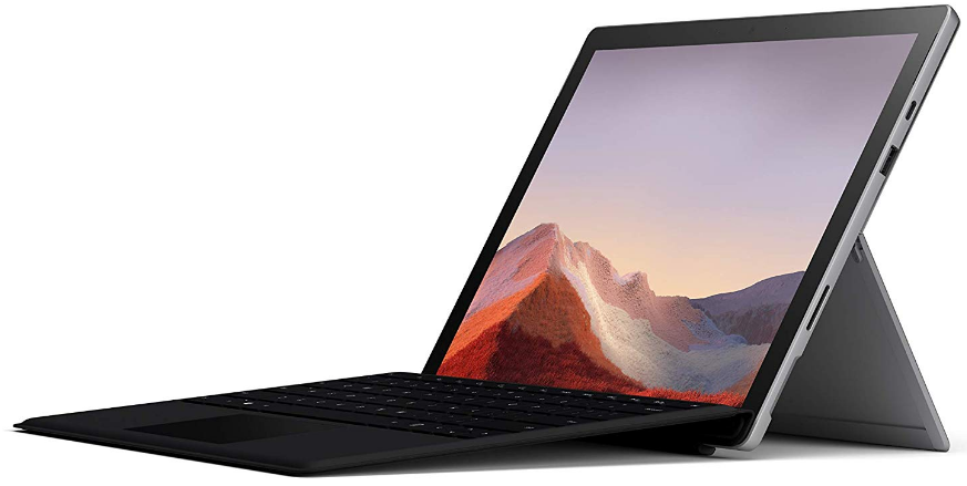 top-rated tablets, microsoft surface pro 7 with keyboard