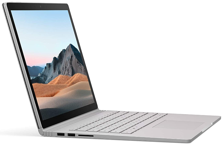 Microsoft Surface Book 3 review of the side view