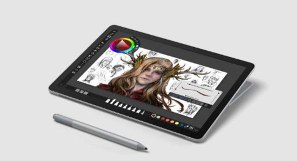 Microsoft laptop, tablet mode Surface Go 2