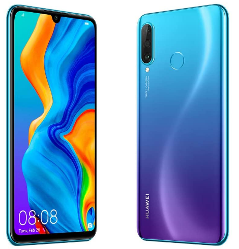 New Huawei P30 Lite, front back and side view